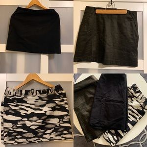 Mini skirts set.. H&M, Club Monaco and Gap.